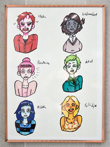 Personer som upplever olika känslor